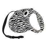 BMD-PET Haustier-Hundeleine, reizendes Muster-Haustier-einziehbare Leine-Hundeautomatische Leinen-ausdehnbare Seil-Führung für Welpen (Color : Zebra)