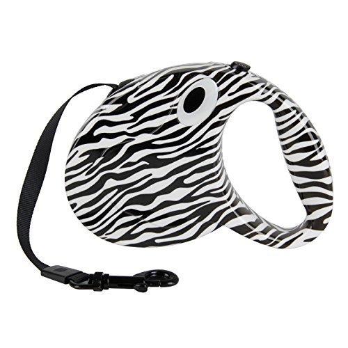 XHD-Haustierkleidung Pet Supplies Schöne Muster Pet Retractable Leine Hund Automatische Leinen Erweiterbar Seil Blei Für Welpen ( Color : Zebra ) (Leine Haken Hund Haus)