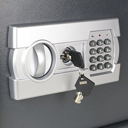 HMF Tresor Safe Möbeltresor Elektronikschloss 380 x 300 x 300 mm - 5