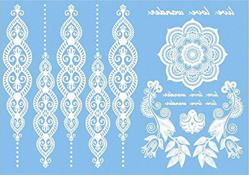 Spitze Temporäre Tattoo Mandala Blume Henna (Walmart Halloween-make-up)