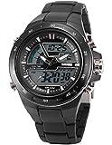 AMPM24 LED172 - Reloj para Hombres, Correa de Silicona Color Negro