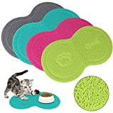 Shoze Pet Dog Puppy Cat Feeding Mat Pad Cute PVC Bed Bowl Food Feed Placement Pink