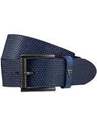STRELLSON ceinture hommes ceinture en cuir bleu
