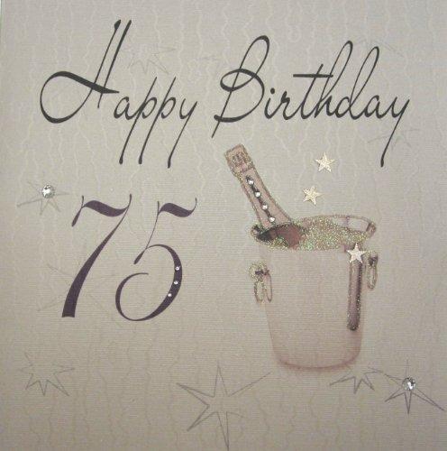 1 Stück 'Happy Birthday-Extra große Elvin Geburtstagskarte zum 75. Geburtstag, Sektkühler