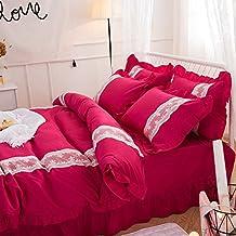 Black Temptation La cubierta de edredón roja borgoña moderna cómoda de la manera del cordón ligero
