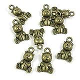 Abalorios de joyería de tono bronce antiguo 826205 con diseño de oso Winne para manualidades y manualidades antique bronze