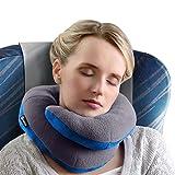 Almohada para Viaje con Soporte para el Mentón BCOZZY – Apoyo para la cabeza, Cuello y Mentón, Comodidad Máxima en cualquier posición. Producto Patentado. (GRIS, ADULTO)