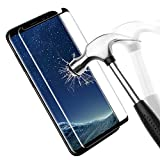 Samsung Galaxy S8 Protection écran en Verre Trempé, Danibos Film de Protection en Verre Trempé 3D Incurvé Couverture complète Glass Screen Protector pour Samsung Galaxy S8 (Noir)