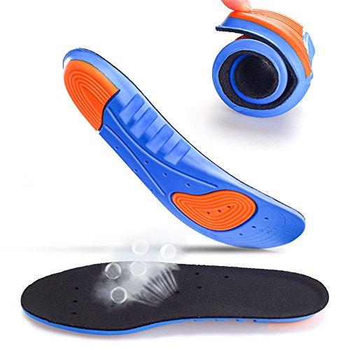 AGIA TEX Germany 2X Komfort Gel-Einlegesohlen für empfindliche Füße | Atmungsaktive Schuheinlagen mit Maximaler Dämpfung | für Sport und Arbeitsschuhe | Auch Bei Senk-Spreizfuß