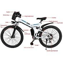 aimado bicicleta eléctrica montaña plegable 26 pulgadas bicicleta de montaña todo suspendida Lithium-Ion batería