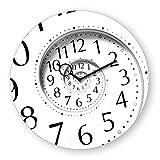 Wanduhr aus Glas, Time Flies, schwarz-weiß, Zahlen, 30x30 cm von Eurographics