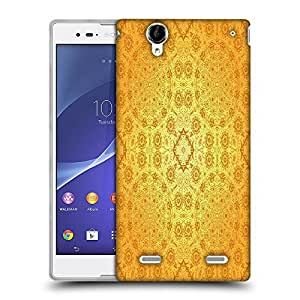 Snoogg Abstract Yellow Pattern Designer Protective Phone Back Case Cover For Sony Xperia T2 Ultra