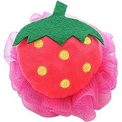 Leisial™ Frucht Baden Badeschwamm Erdbeere Runde Badeschwamm Kinder 13*13CM
