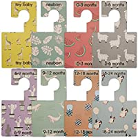 Belo and Me Baby Wardrobe Dividers | Pop Prints Design | Organise Clothes by Age | Pack of 8 (Pop Prints)