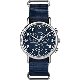 Timex Reloj Analogico para Mujer de Cuarzo con Correa en Tela TW2P71300