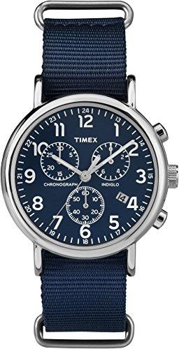 Timex Damen Analog Quarz Uhr mit Stoff Armband TW2P71300