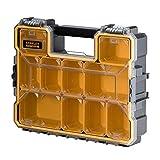 Stanley FatMax Profi-Organizer (44,6 x 11,6 x 35,7 cm, tiefe Fächer, stabiler Deckel, Metallverschlüsse, wasserdicht, herausnehmbare Boxen, extra Box für Kleinteile) 1-97-518