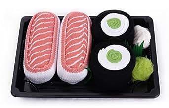 Sushi Socks Box 2 Paar Lachs Gurke Maki