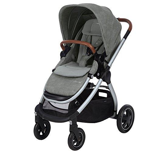 Maxi Cosi Adorra komfortabler Kombi Kinderwagen für ihr Kind, mit riesigem Einkaufskorb, einhändigem Faltmechanismus und geringem Gewicht von unter 12 kg ab Geburt bis ca. 3,5 Jahre, nomad grey