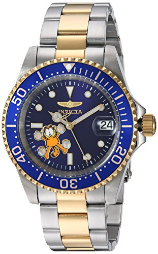 Invicta 24862 Character - Garfield Unisex Wrist Watch Stainless Steel Automatic Blue Dial