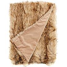Linder 5011/28/841/150 Grizzly colcha, cubresofá, piel sintética,