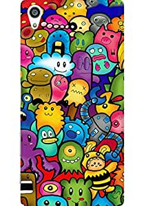 AMEZ designer printed 3d premium high quality back case cover for Sony Xperia Z5 Plus (Cute Ghosts)