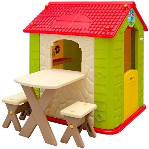 Littletom Casetta Gioco Per Bambini E Bambine Incl 1 Tavolo 2