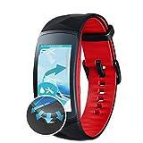 atFoliX Schutzfolie für Samsung Gear Fit 2 Pro Folie - 3 x FX-Curved-Clear Flexible Displayschutzfolie für gewölbte Displays - vollflächiger Schutz bis zum Rand