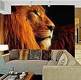 Murale Carta Da Parati 3D Stereoscopico Animale Leoni Grande Murale Soggiorno Camera Da Letto Divano Tv Sfondo Wallpaper Rivestimento Murale, 430X300Cm (169.29X118.11 In)