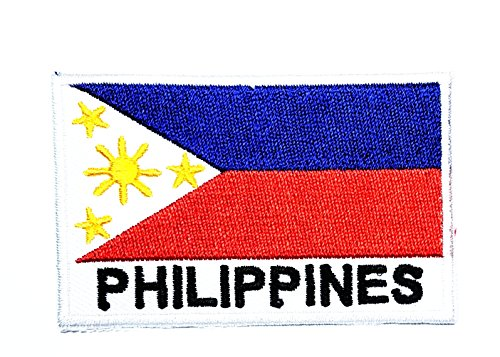 V Philippinen Land Flagge Patch National Flagge