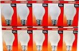 10 x OSRAM Glühlampe Glühbirne Standard E27 100W 100 Watt matt 230V Leuchtmittel