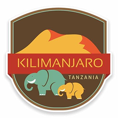 Preisvergleich Produktbild 2x Kilimanjaro Tansania Afrika Vinyl Aufkleber Aufkleber Laptop Auto Reise Gepäck Label Tag # 9549 - 10cm/100mm Wide