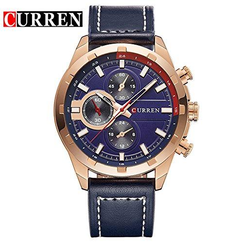 Gran oferta de reloj de pulsera de moda lujoso Curren para hombre, producto de 2017, reloj informal, de negocios 8216G
