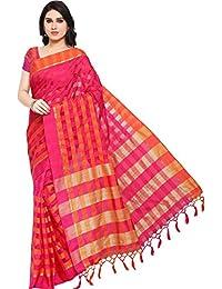 EthnicJunction Women's Cotton Silk Saree With Blouse