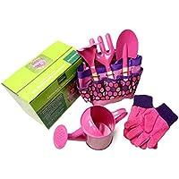 Kindergarten-Werkzeug-Set, Garten-im Freienmetallschaufel-Handschuh-Kessel-Satz (6 PCS/Set)