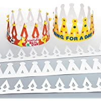 Baker Ross Lot de 12 Couronnes à personnaliser - Idéal pour les déguisements de Prince et de Princesse