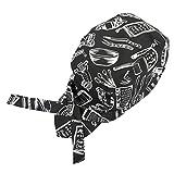 YSXY Männer Frauen Kochmütze Bandana Kopftuch Kochhut Kochbekleidung Bistromütze Herren Kopfbedeckung Piratenkopftuch Kochkleidung