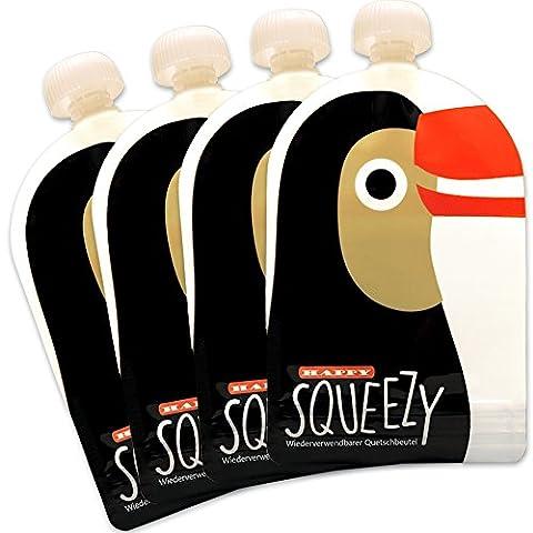 Lot De Gourdes - Happy Squeezy – Lot de 4 Gourdes