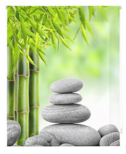 HappyStor HSCZ5905 Estor Enrollable Estampado Digital Zen Tejido Traslúcido Medida Total Estor:165x180 (**Solo Ancho Tela:161-162cm.**)