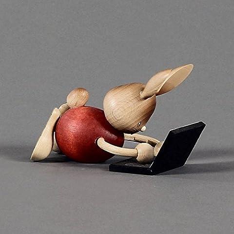Coniglietto pasquale Stupsi con Laptop–Dregeno Monti