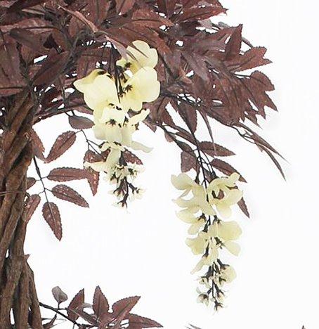 Vert Lifestyle Stilvolle rote künstliche Baum & Pflanzen. Der rote japanische fruticosa Baum mit weißer Blume ist eine schöne künstliche Pflanze. Höhe: 165 cm, Japanischer