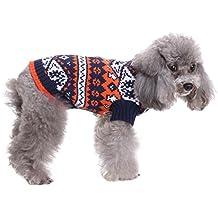 SMALLLEE_LUCKY_STORE XCW0051-blue-XL - Chaleco de Navidad para gatos/perros, diseño
