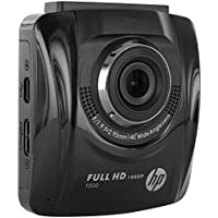 HP F-500 Compact Full HD 1080p Car Camcorder - Ultra-Wide Angle Lens with Built-in and Motion Sensor for Collision Detection