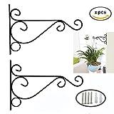 Dproptel confezione da 2 staffe pensili da parete per giardino, ganci per appendere vasi di fiori, lanterne, decorazioni per il giardino, 25 x 20 cm