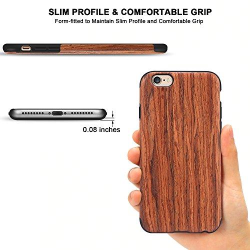 utection coque en bois compatible avec iphone 6 plus