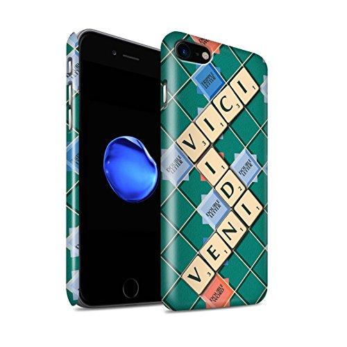 STUFF4 Glanz Snap-On Hülle / Case für Apple iPhone 8 / Übung den Meister Muster / Scrabble Worte Kollektion Veni Vidi Vici