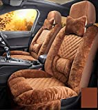 JOYJUNE Sitzbezug-Set, Universal Plüsch Autositzbezüge Set Volle vordere und hintere Reihe des Autos 11-teiliges Set
