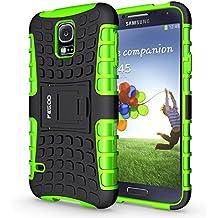 Funda Galaxy S5 ,Pegoo El Soporte Incorporado A Prueba de golpes Anti-Arañazos y Polvo Mezcla Doble Capa Armadura Proteccion Cover Case Caso Funda Cáscara Caja para Samsung Galaxy S5 (Verde)