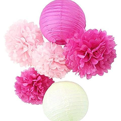SKR Seidenpapier Pompons Blumen BALL und Dekoration Papier Papierlaterne Party- oder Hochzeit Dekoration.