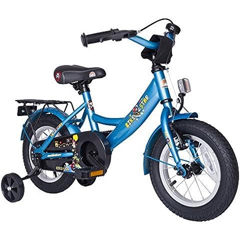 BIKESTAR® 30.5cm (12 pulgada) Bicicleta para un paseo seguro para niños de 3 años ★ Edición Clásico ★ Azul
